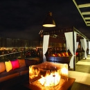 Above Rooftop-Night Time Cabanas