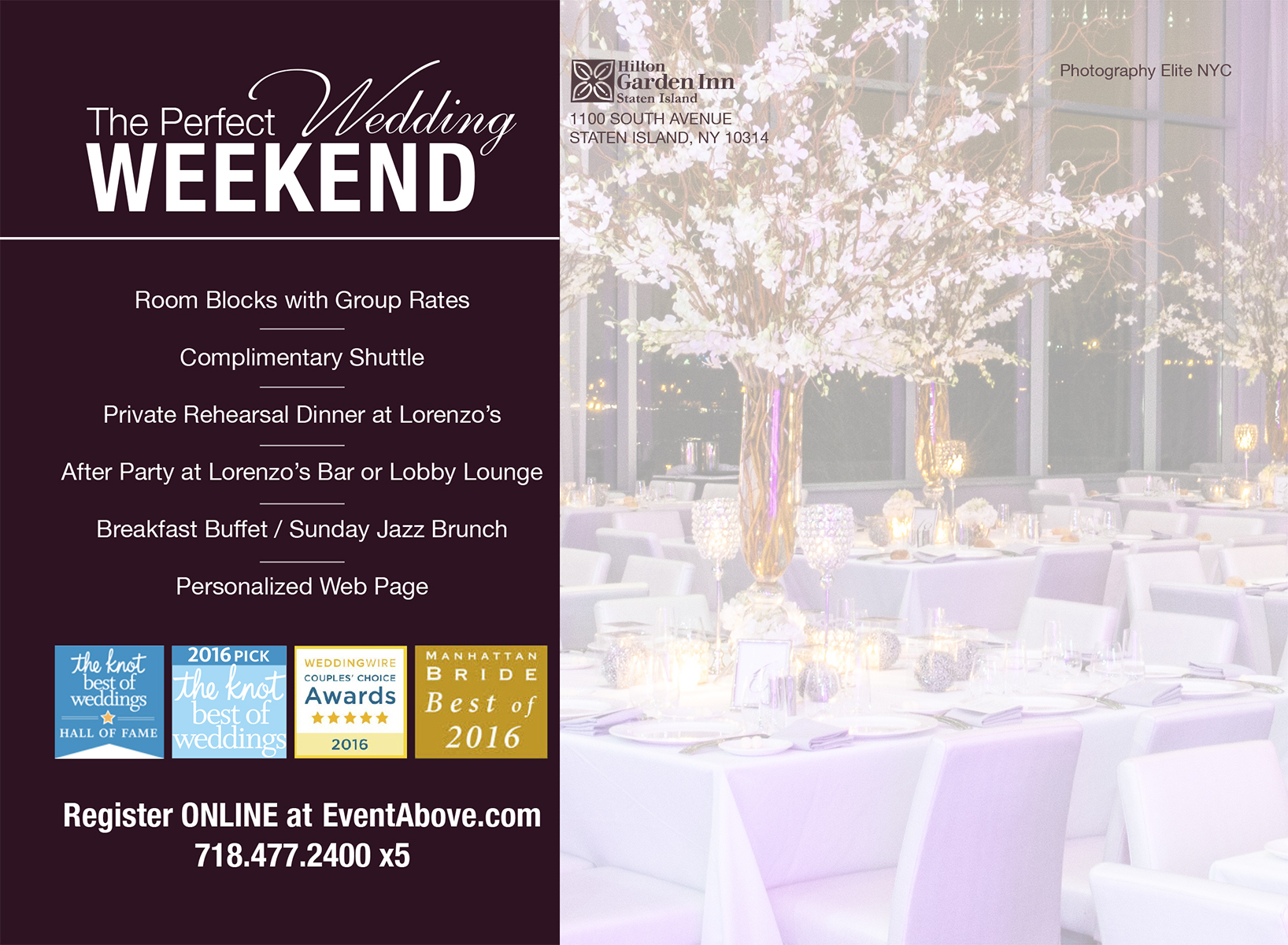 Image Of A Flyer For A Wedding Reception Venue In Staten Island, NY - Above Weddings