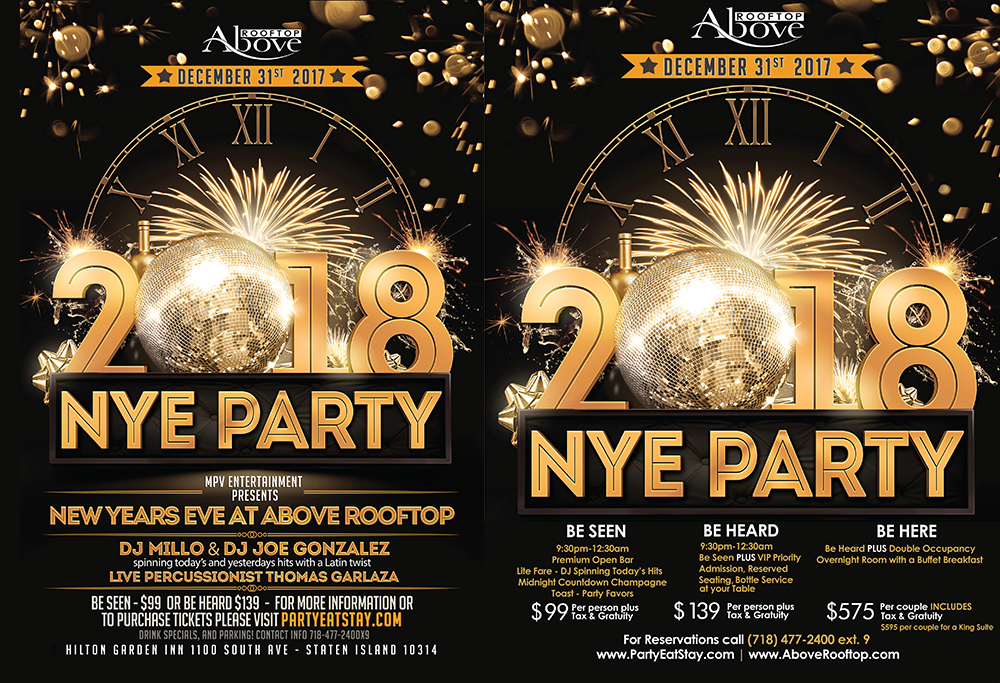 Above Rooftop New Years Eve Flyer